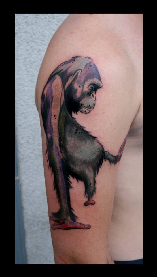 Татуировка обезьяна - значение, фото - Тату студия Барака 12