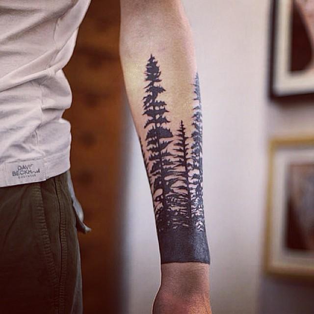 тату лес картинки