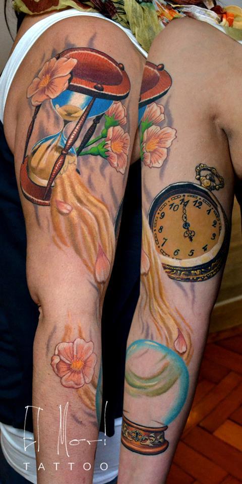 татуировка песочные часы значение