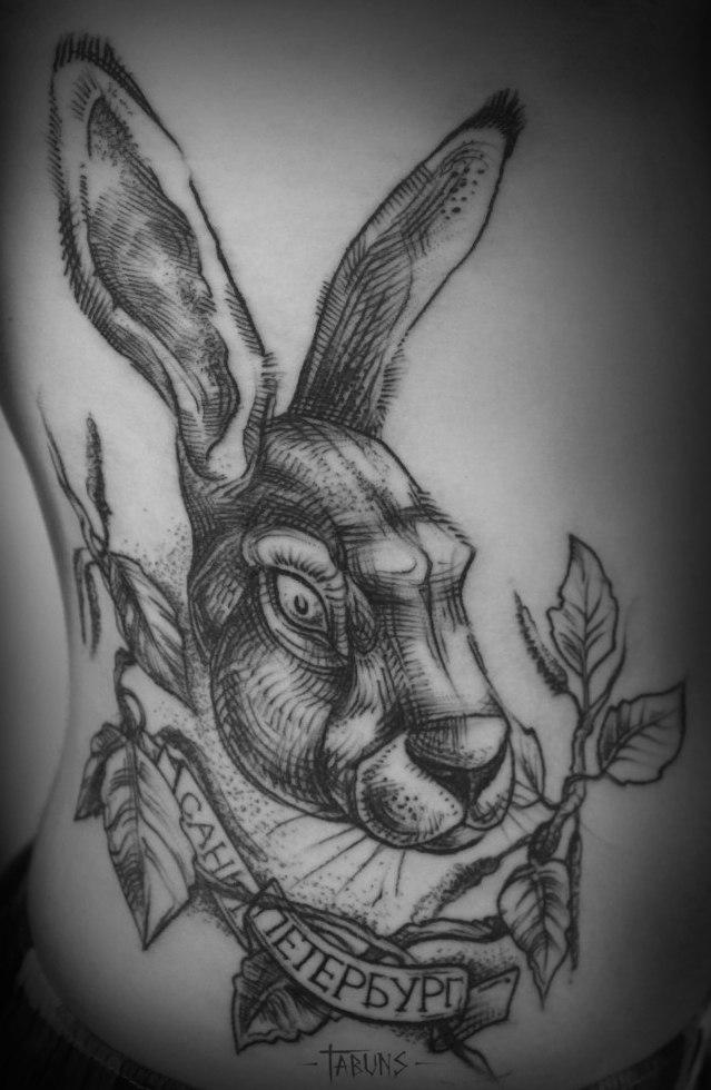 Что означает тату с кроликом 140