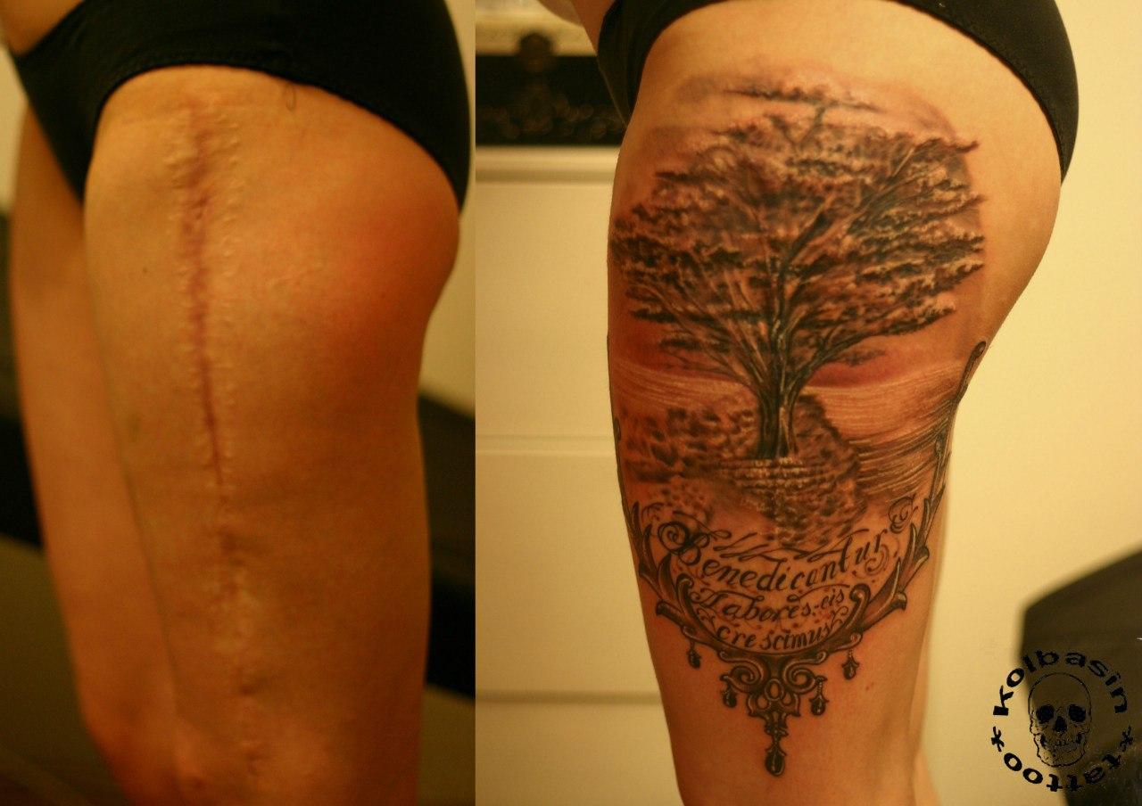 Татуировка на бедре мужская фото