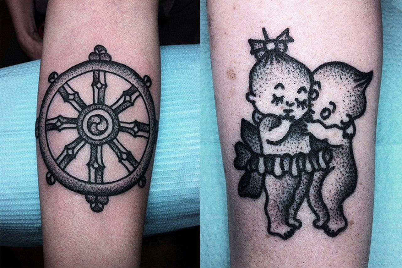 Татуировки в стиле Дотворк, фото дотворк тату