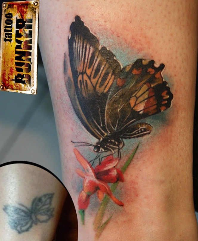 Realistic butterfly tattoos