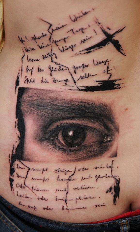 Надпись для тату с глазом