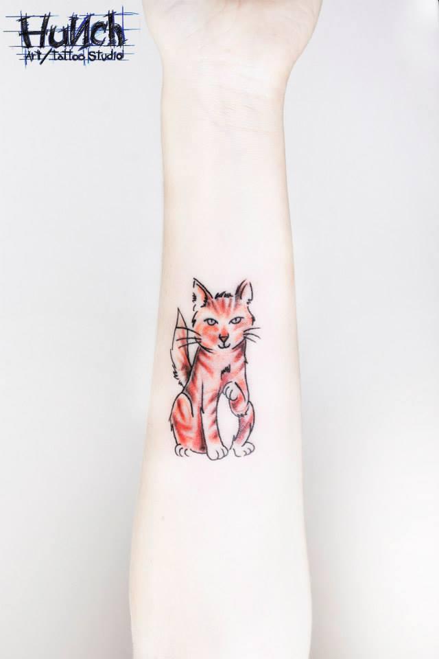 Татуировка кошка