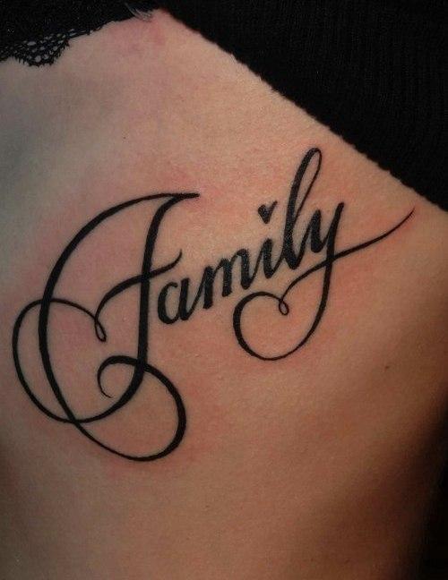 Надписи для тату о семье