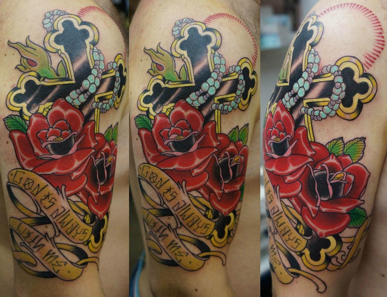 Татуировка в стиле олд скул фото