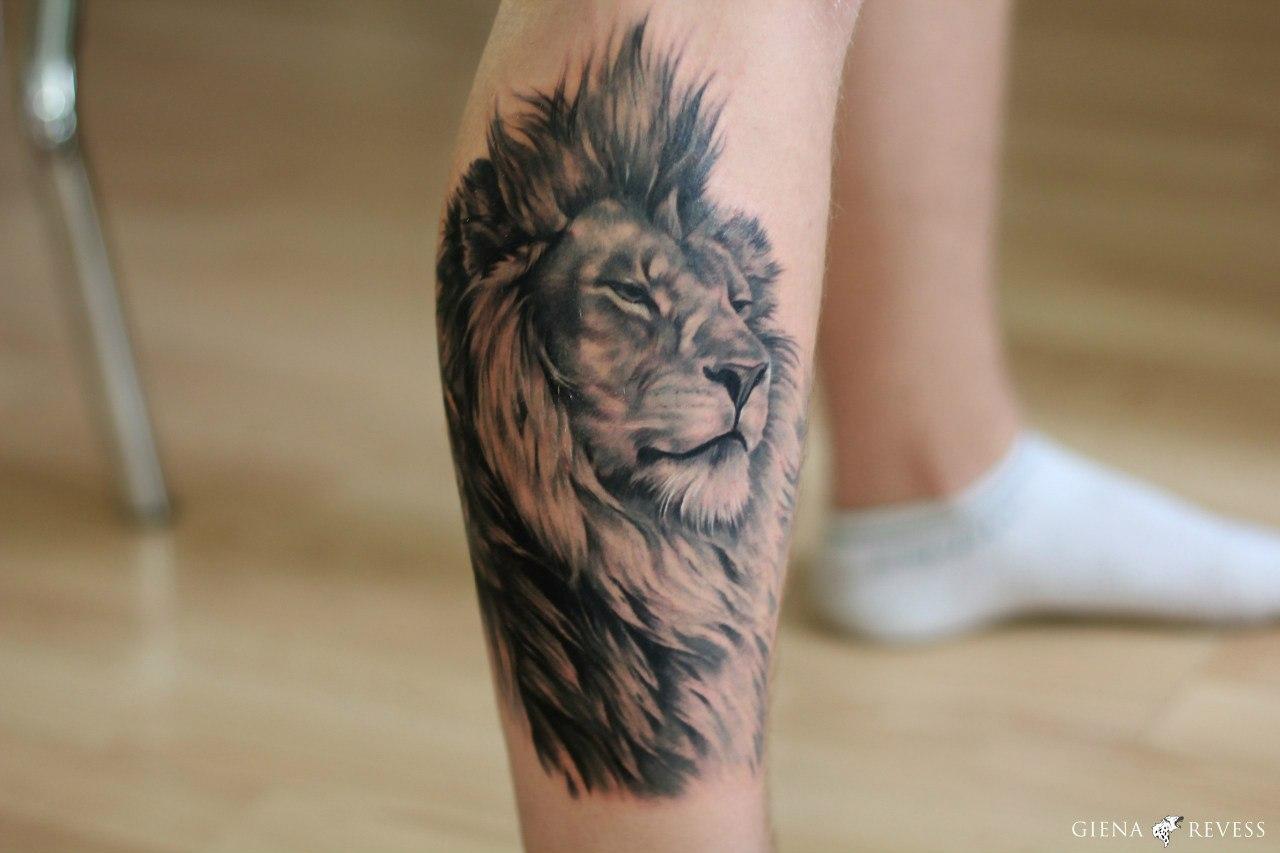 Лев татуировка: значение и фото 96