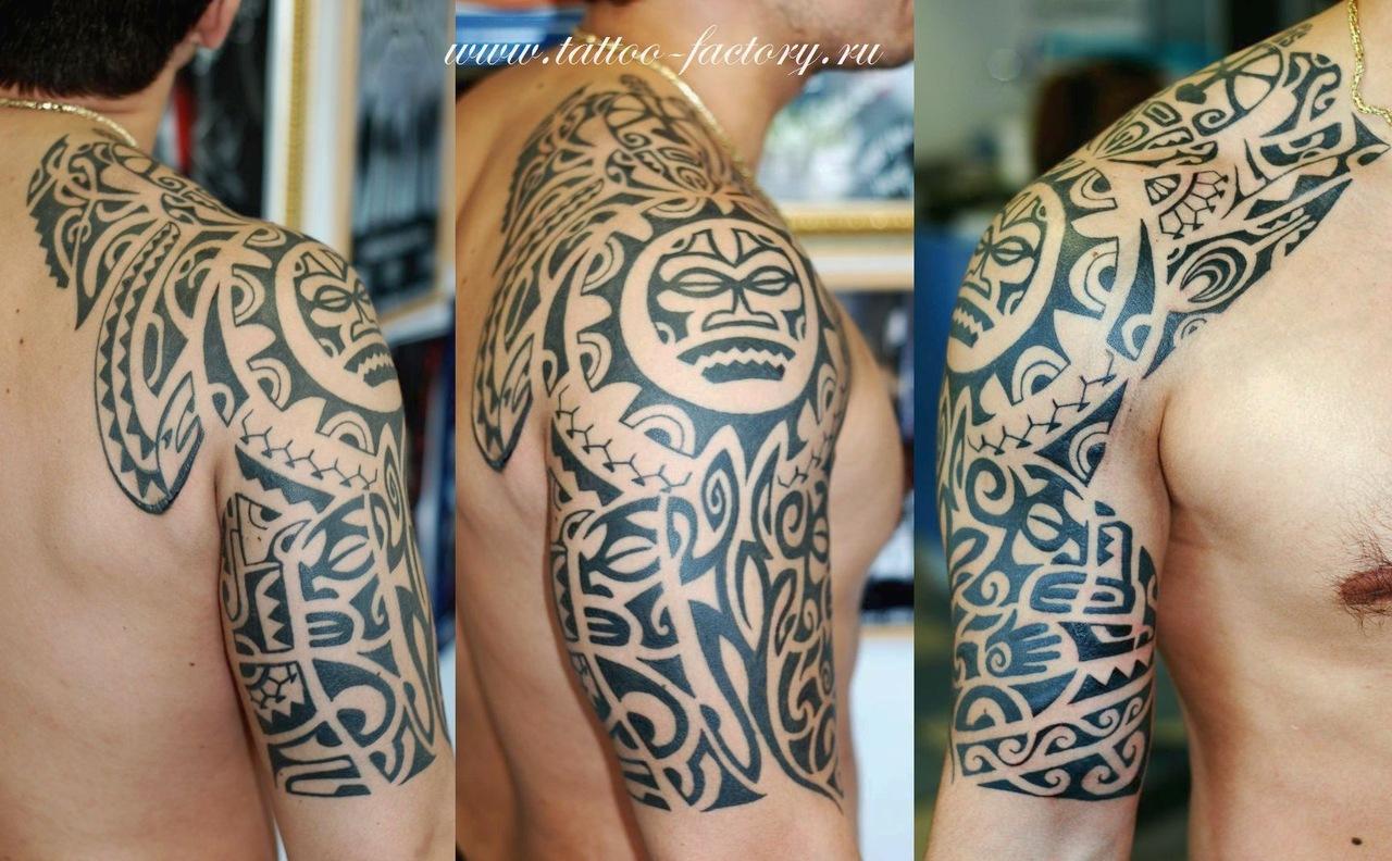Фото татуировок в стиле полинезия