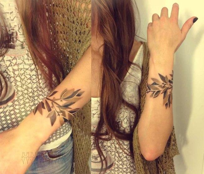 Тату на руке для девушек браслет