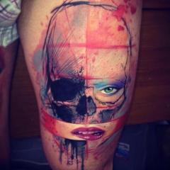 Фото татуировок в стиле акварель