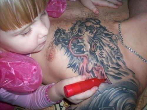 Как разукрасить тату
