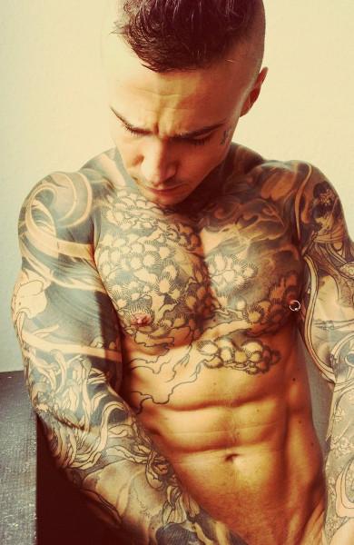 Татуировки волка для мужчин 65