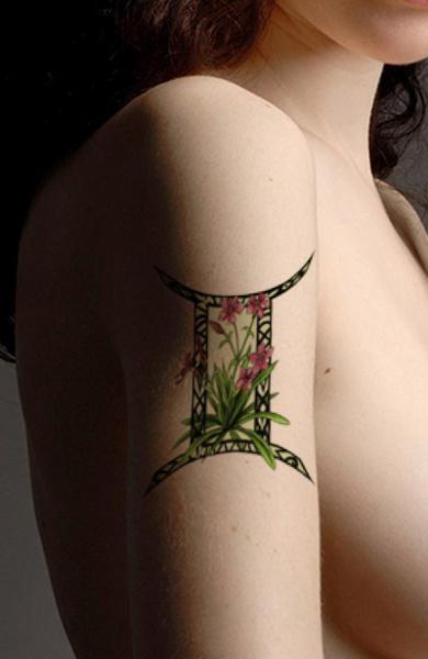 Татуировка знак зодиака Близнецы