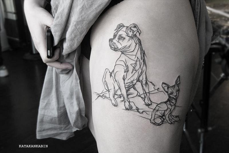 Татуировка по индивидуальному заказу от Katakankabin