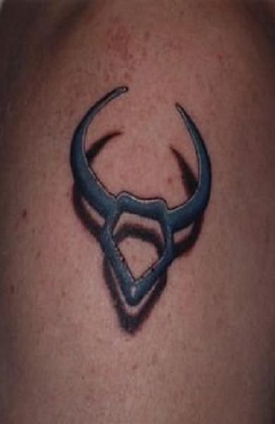 Татуировка знак зодиака телец