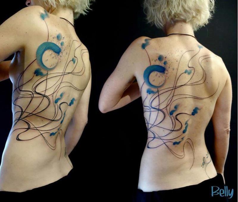 Татуировки в стиле абстракционизм