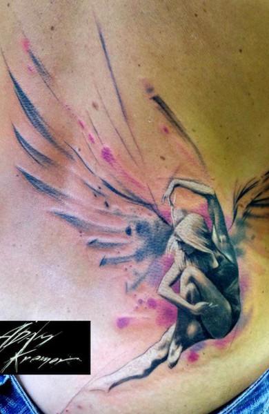 Татуировка с маками девушка фото