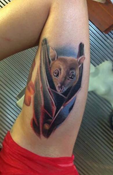 фото тату летучая мышь