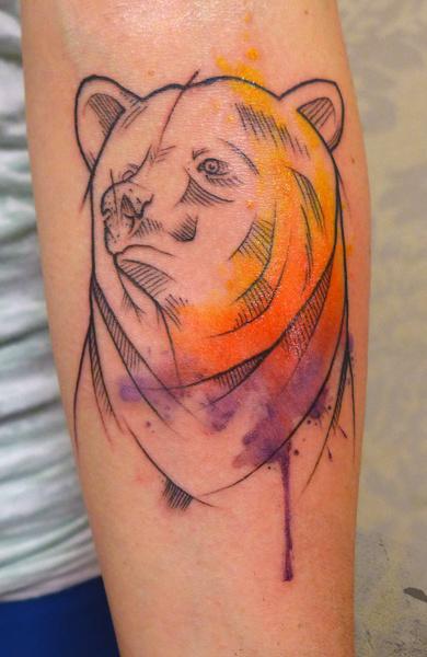 Татуировка медведь