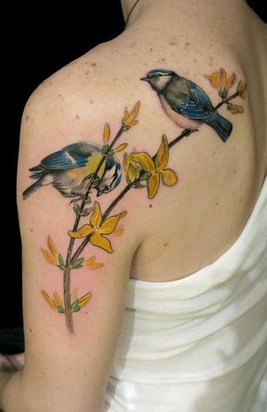 Татуировка птички