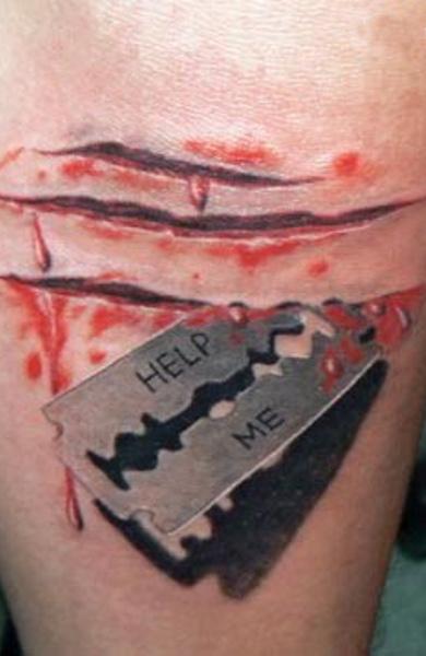Татуировка лезвие