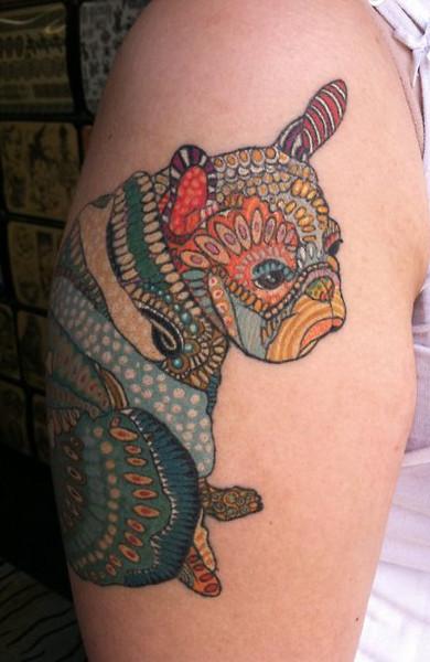 Татуировка бульдог