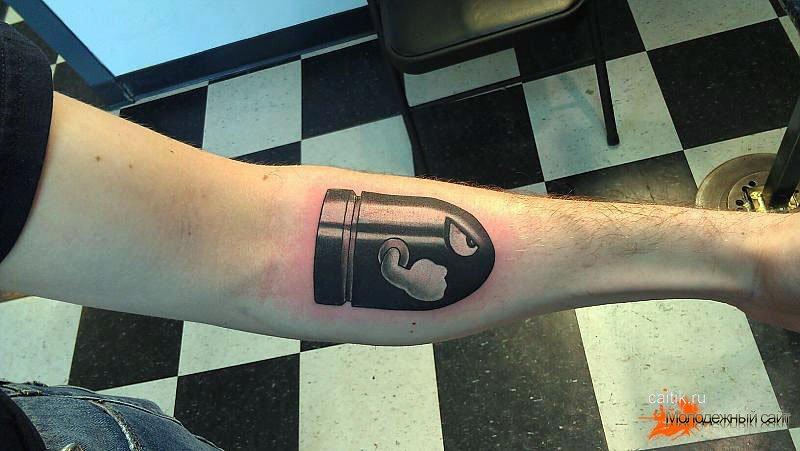 Татуировка пуля
