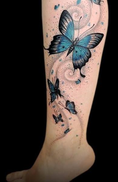 Татуировка бабочка в качестве эскиза