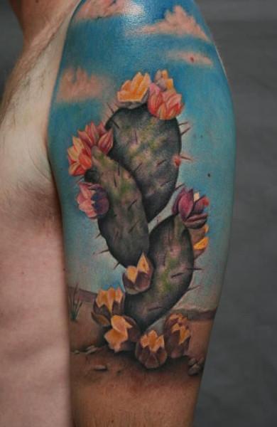 Татуировка кактус