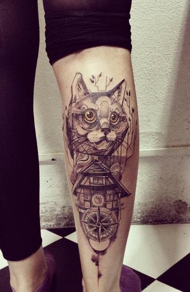 Татуировки фото коты