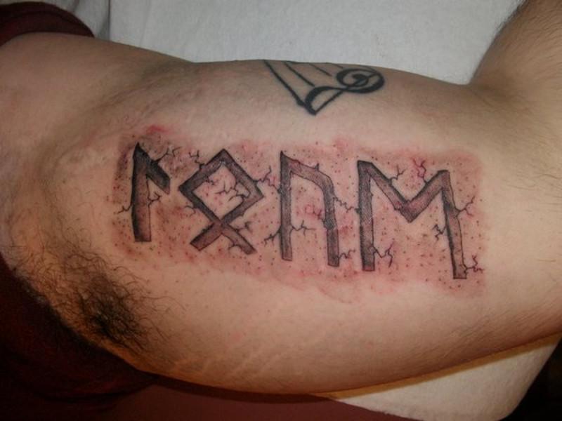 Татуировка кельтские руны