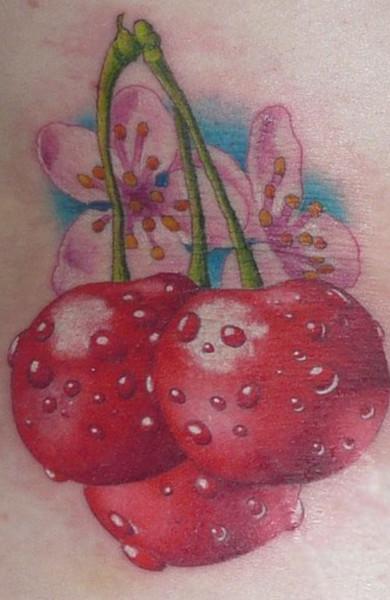 Татуировка вишня