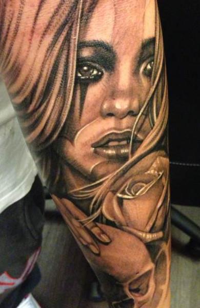 Татуировка в стиле чикано