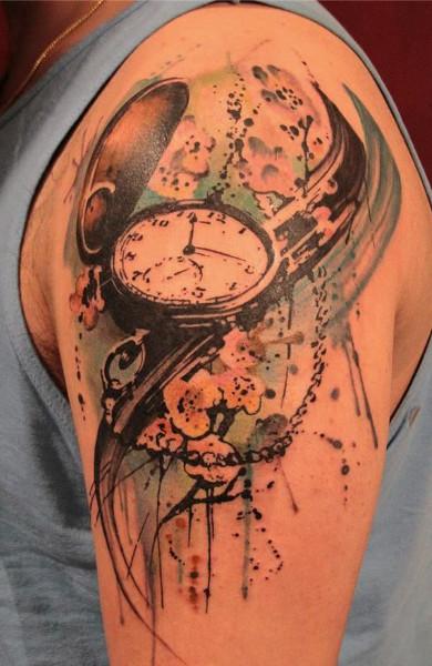 Татуировка часы