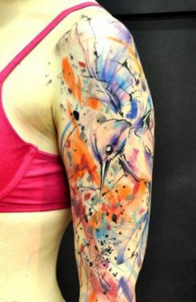 фото татуировка колибри