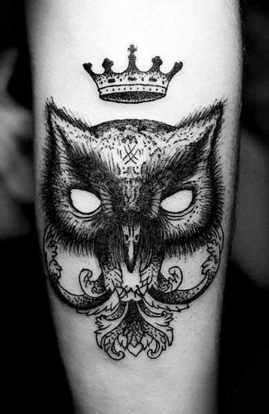 эскиз татуировка корона
