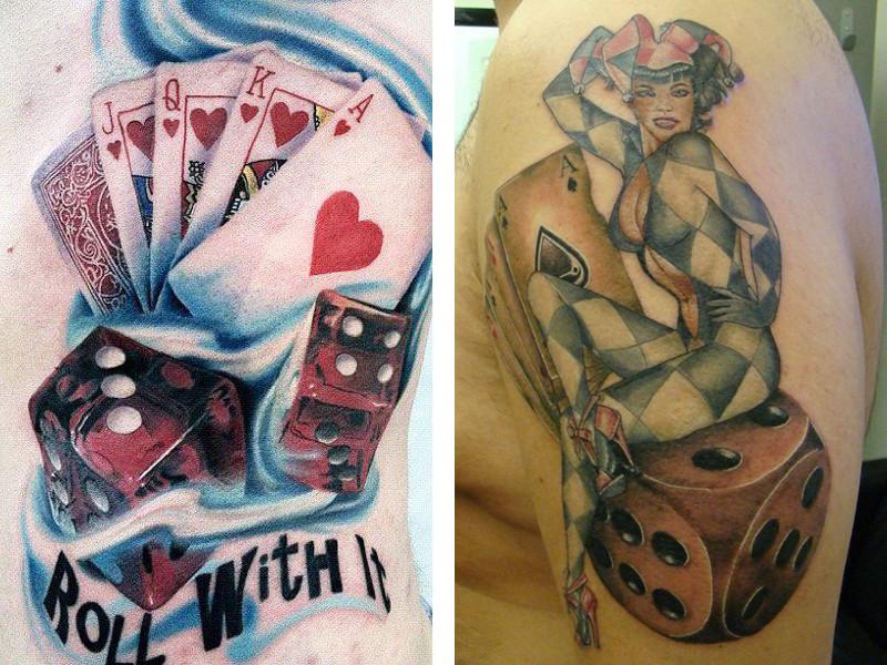 Татуировка игральные кости и ее значение