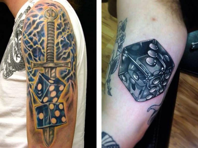 Татуировка игральные кости