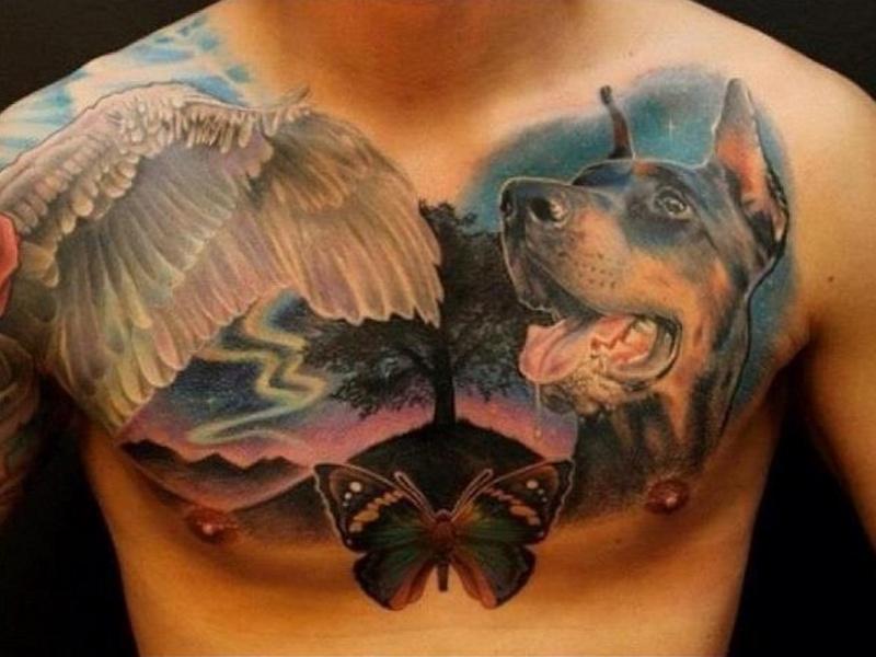 Татуировка доберман