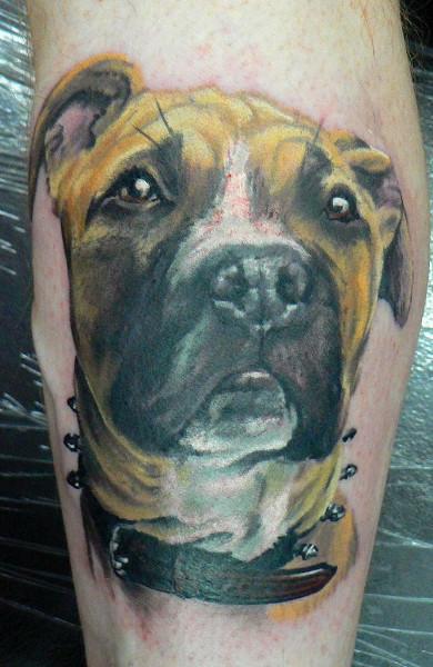 эскиз татуировка собака