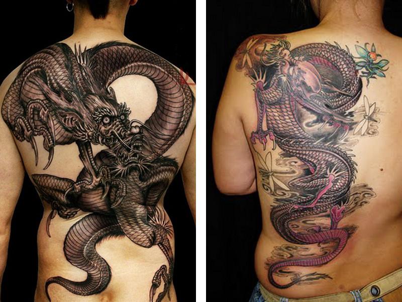 Татуировка дракона в азиатском стиле