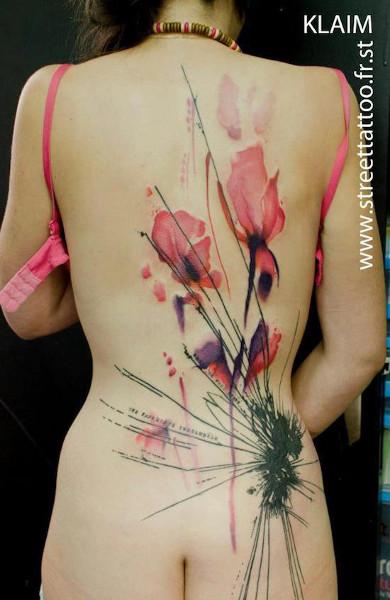 Татуировка цветы - значение, эскизы тату и фото