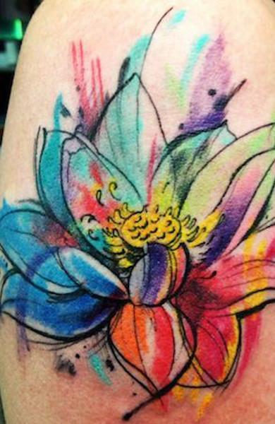 Что означают татуировки цветов