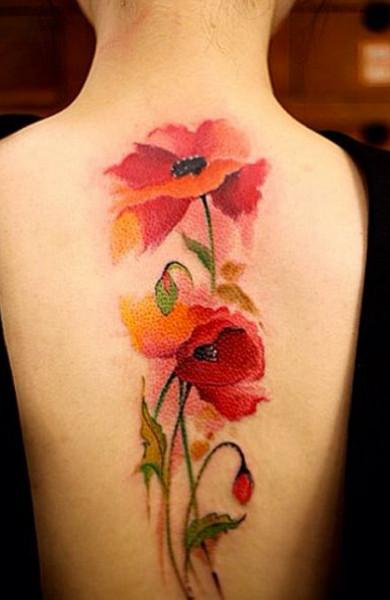 Татуировка цветы