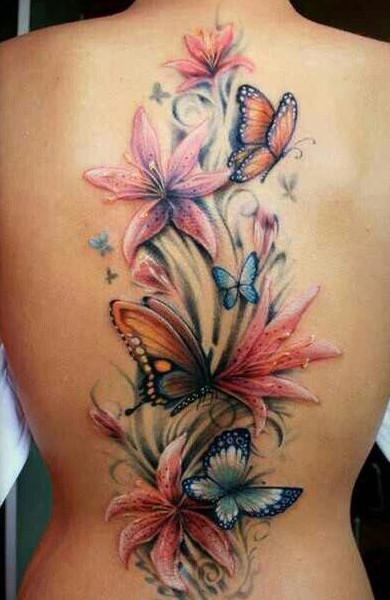 Эскиз татуировки цветы
