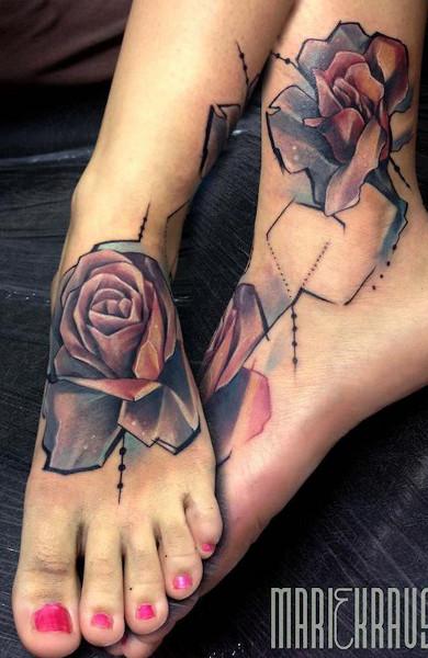 Татуировка на ступне
