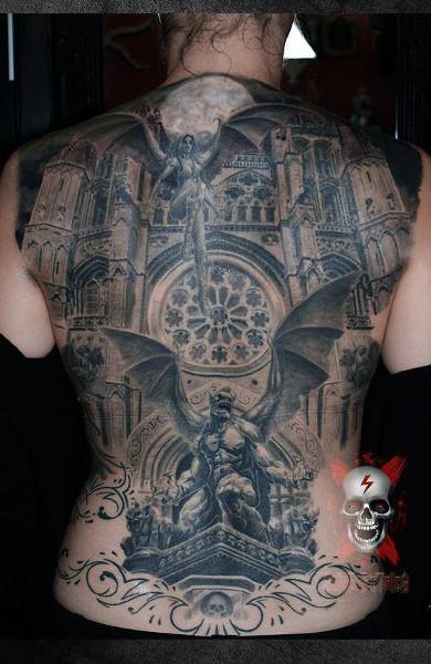 Татуировка гаргулья