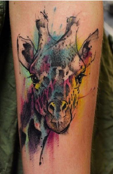 Татуировка с жирафом фото