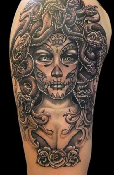 Горгона татуировки 165